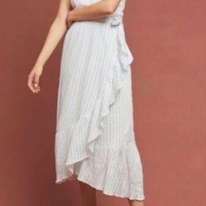 EUC Anthropologie Maeve Ruffle Wrap Skirt